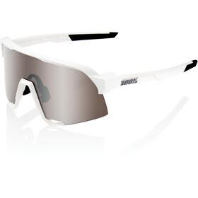 100% S3 Gafas, matte white hiper silver/hiper mirror